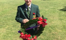 St-Mary's-Crookwell---one-of-school-captains---James-Croker---laying-a-wreath-at-Crookwell-Rememberance-Day-2018