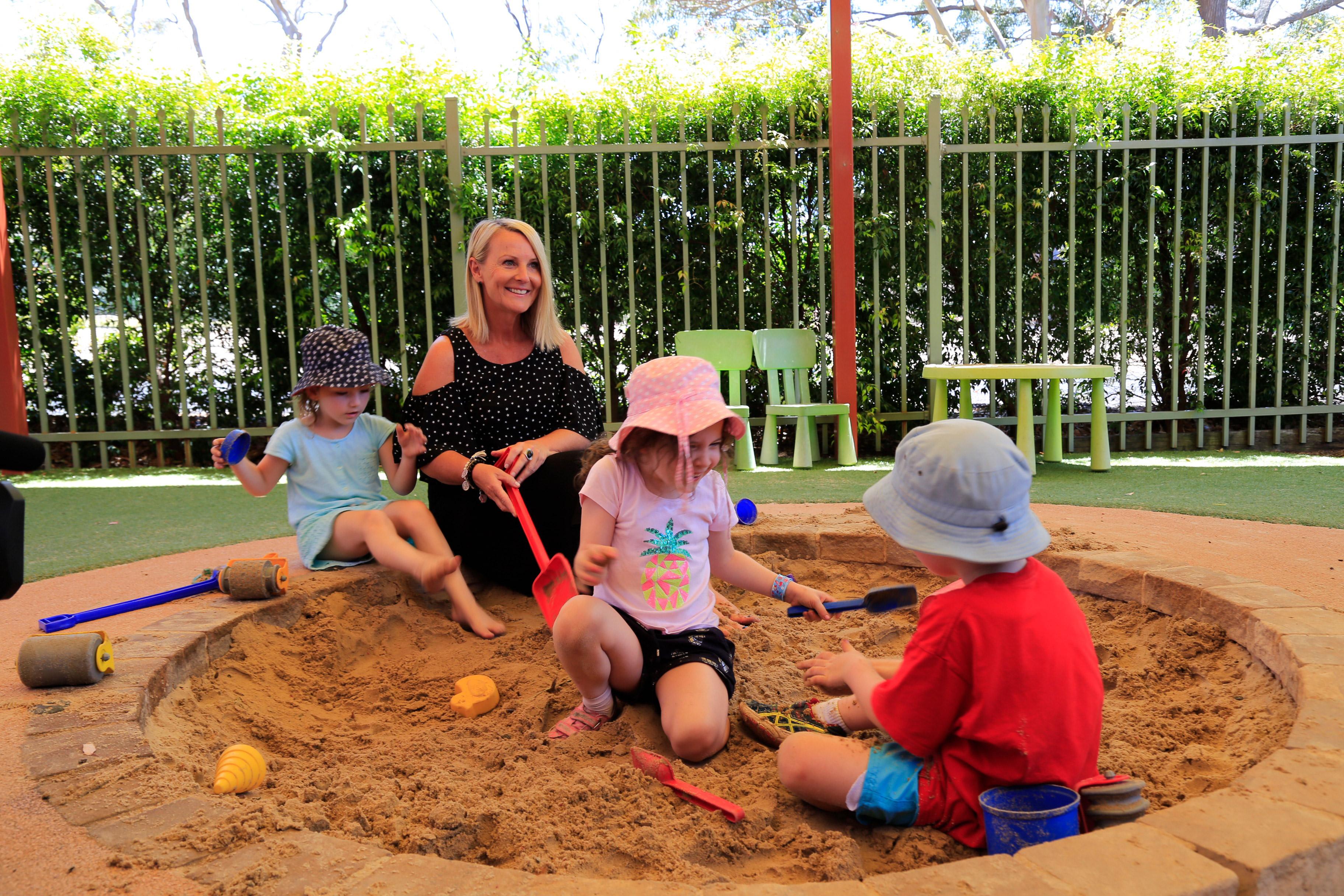 Kim Moroney and kids