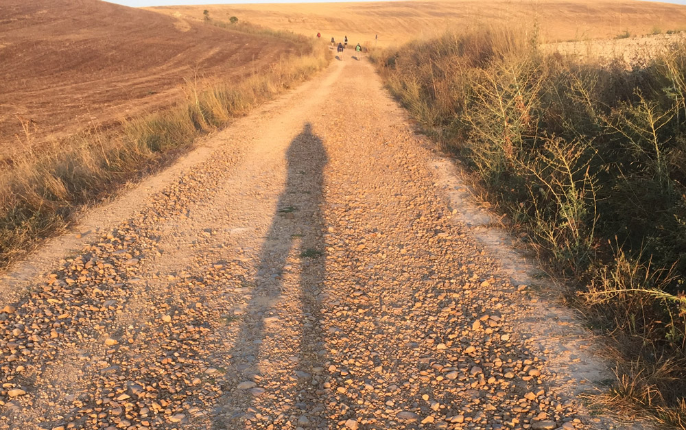 Fr Richard Thompson on the Camino de Santiago Way.