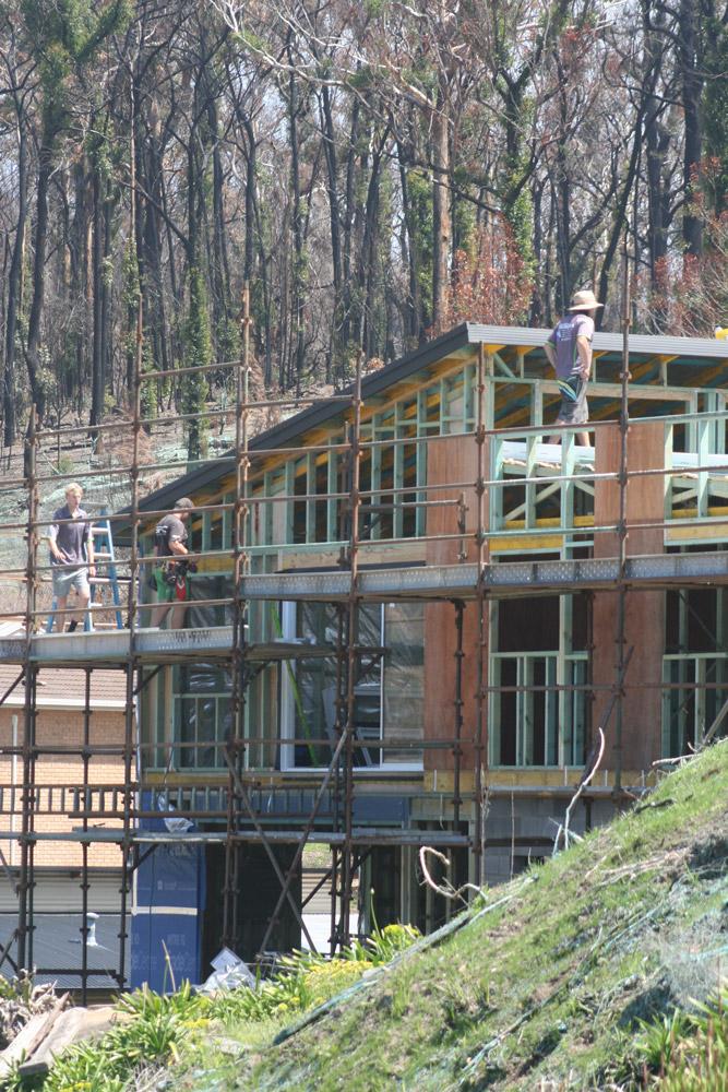 Rebuilding in Tathra
